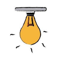 bulb creativity idea think innovation icon vector image