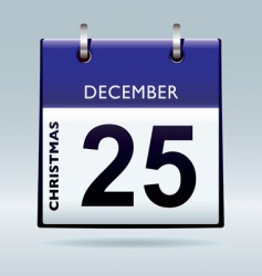 Christmas day calendar blue vector image