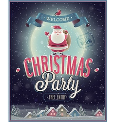 Christmas party poster vector