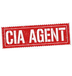 Cia agent grunge rubber stamp vector