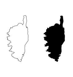 Corsica map vector