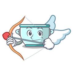 Cupid steel pot character cartoon vector