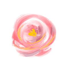cute spring watercolor flower rose art vector image
