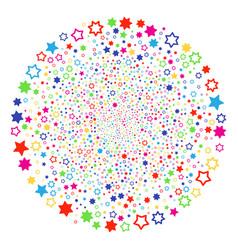 decoration stars festival spheric cluster vector image