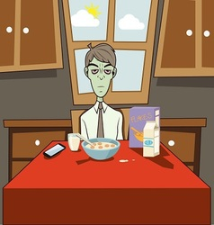 Dozombox The Capitalism Zombie Breakfast vector