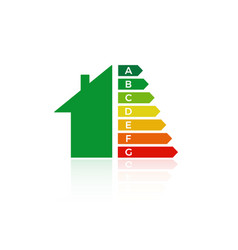 Energy efficiency house icon vector