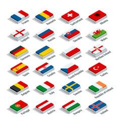Euro 2016 in france flags european countries vector