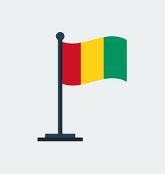 flag of guinea flag stand vector image