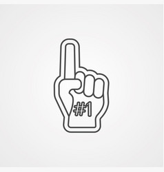 foam hand icon sign symbol vector image