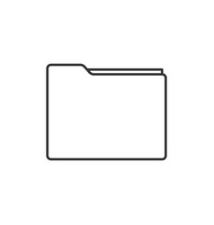 folder line icon vector image