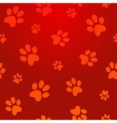 footprints seamless pattern vector image