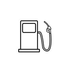 Gas station line icon fuel and refill sign vector
