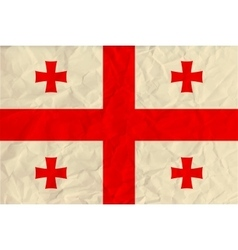 Georgia paper flag vector image
