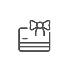gift card line icon vector image