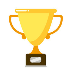 goblet on pedestal to rewarding sport winner vector image