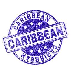 Grunge textured caribbean stamp seal vector
