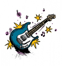 Guitar drawing vector
