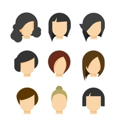 Hair styling isolated on white vector image
