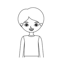 Half body silhouette child with t-shirt vector