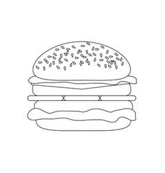 hamburger cheeseburger food vector image