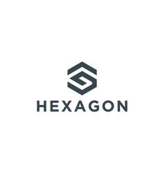 initial hexagon logo design inspiration vector image