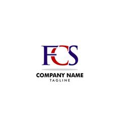 initial letter fcs logo template design vector image