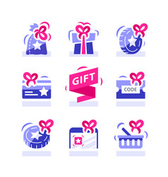 Loyalty gift reward for purchase earn points vector