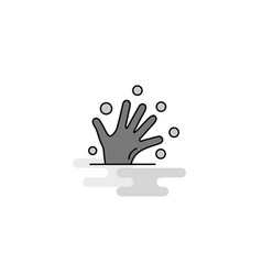 magical hands web icon flat line filled gray icon vector image