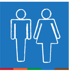 Man and lady people icon design vector