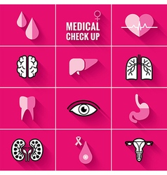 Medical Check Up Icons Woman vector