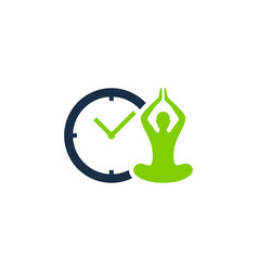 meditation time logo icon design vector image