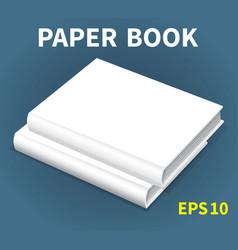 Mock-ups of paper books-16 vector