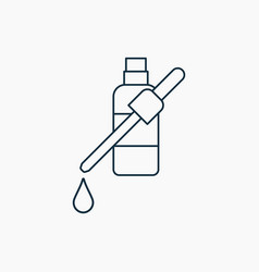 Nasal or eye drops outline icon isolated bottle vector