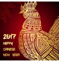New Year greeting card with Gold Roosters vector