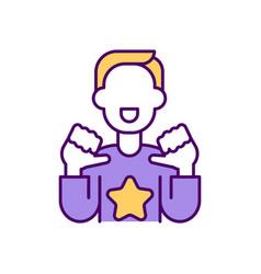 Opinion leader rgb color icon vector