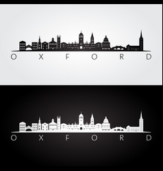 oxford skyline and landmarks silhouette vector image