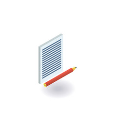 paper and pencil icon vector image