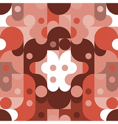 Pattern Abstract red tone color vector image
