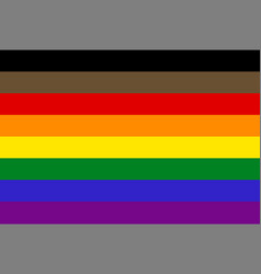 Philadelphia pride flag vector