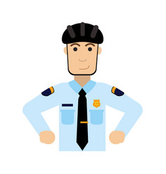 police officer wearing helmet icon image vector image