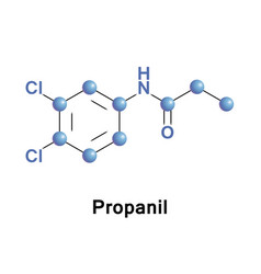 propanil contact herbicide vector image