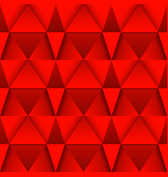 Red 3d geometric background seamless pattern vector