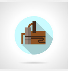 Refinery industry flat round icon vector