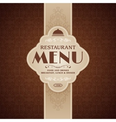 Restaurant cafe menu brochure template vector