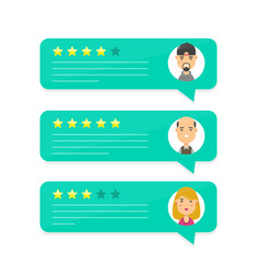 review rating bubble speeches vector image