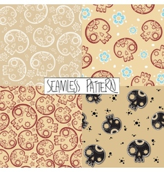 Sculls seamless pattern vector