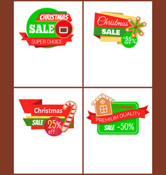 set christmas discount bright web pages vector image