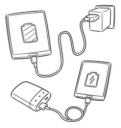 set of smartphone charging vector image