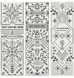 SET OF THREE DECORATIVE DESIGNS vector