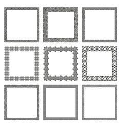set square frames with old greek ornament vector image
